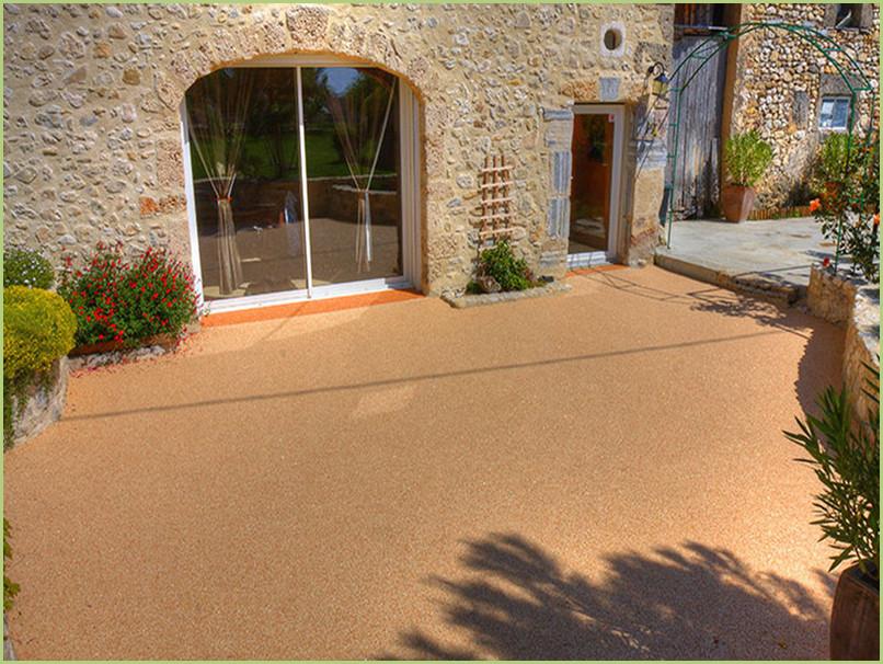 terrasse provençale resine marbre rosso verona.