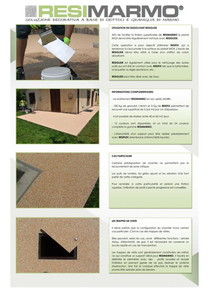 Les phases de travail - nettoyage-terrasse-arrière-trappe-visite