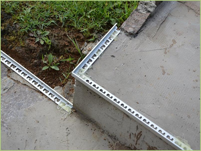 Pose des profilés Aluminium terminée