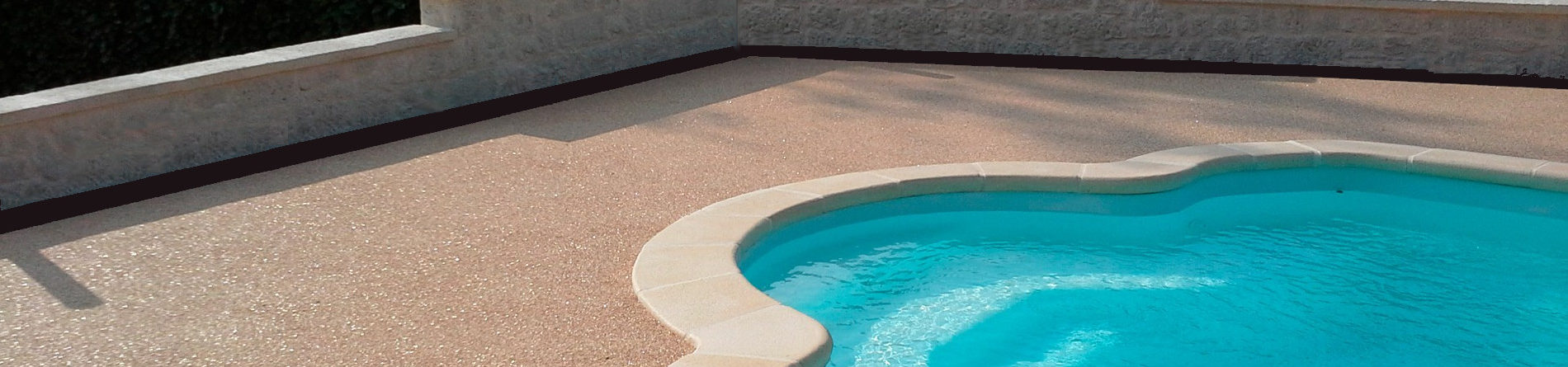 Plages de piscine tempérées - douceur sous les pieds - sans raccord