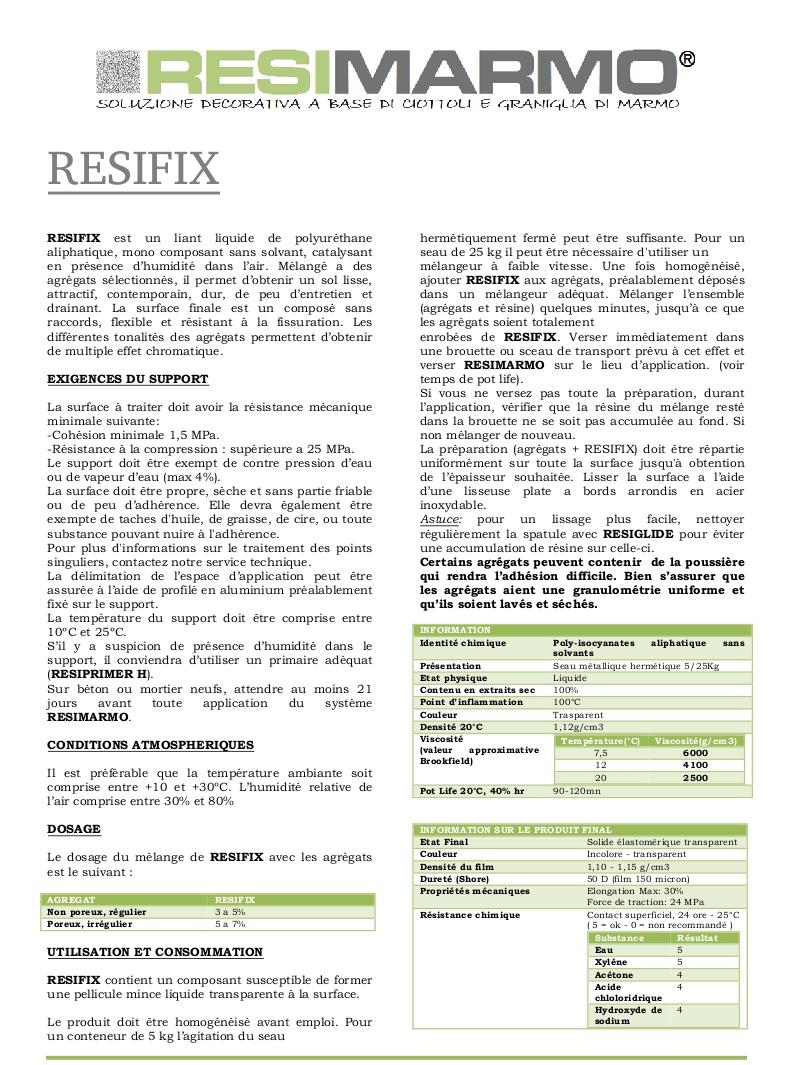 RESIFIX - Première partie