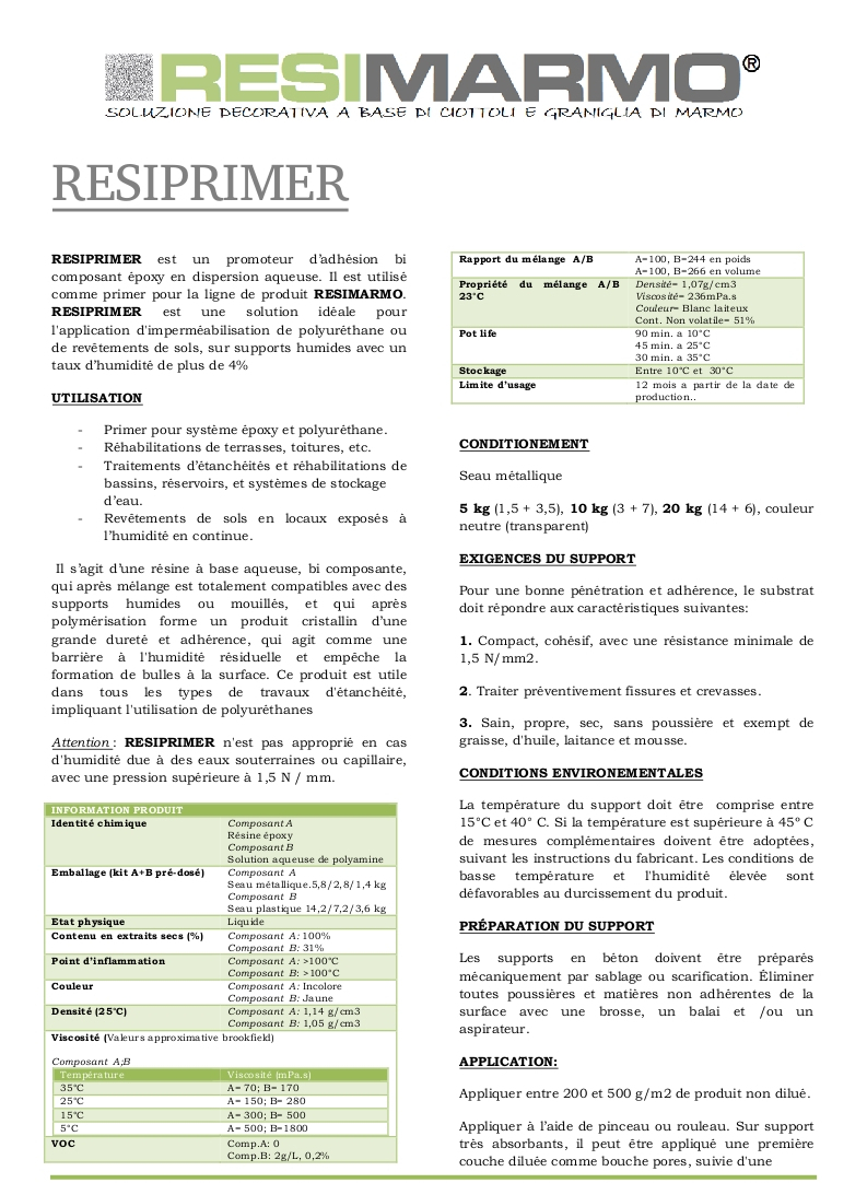 RESIPRIMER - Première partie