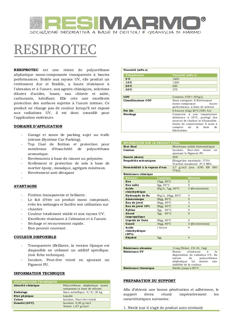 RESIPROTEC - Première partie