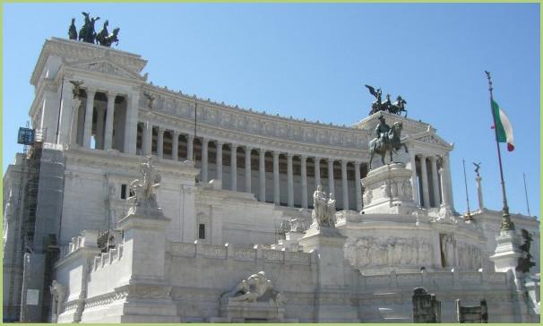 Le monument vittoriano de Venise - Le monument à la gloire d'Emmanuel II