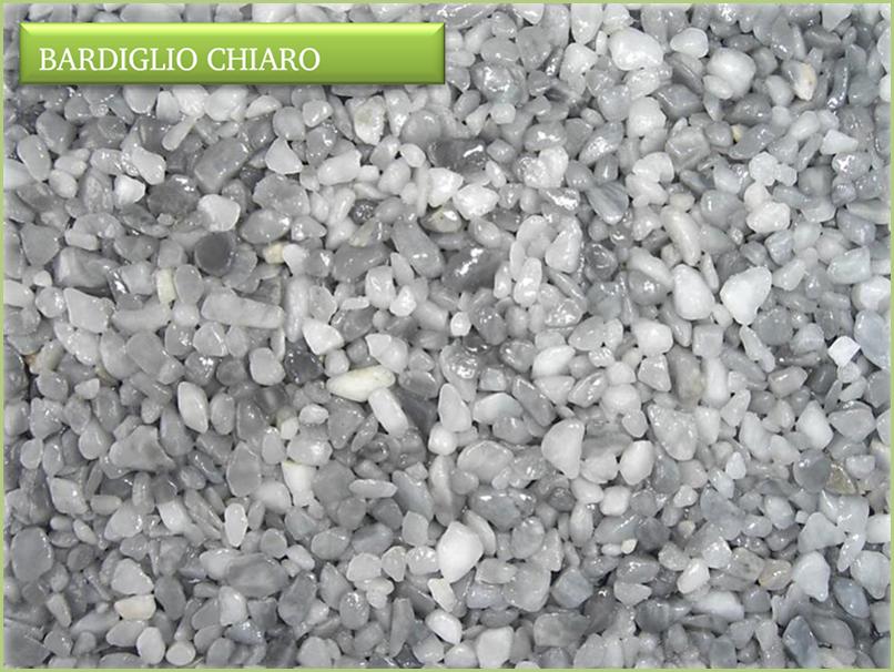 Les granulats de marbre italiens - Couleurs bardiglio chiaro
