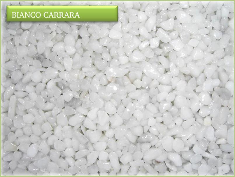 Les granulats de marbre italiens - Couleurs bianco carrara