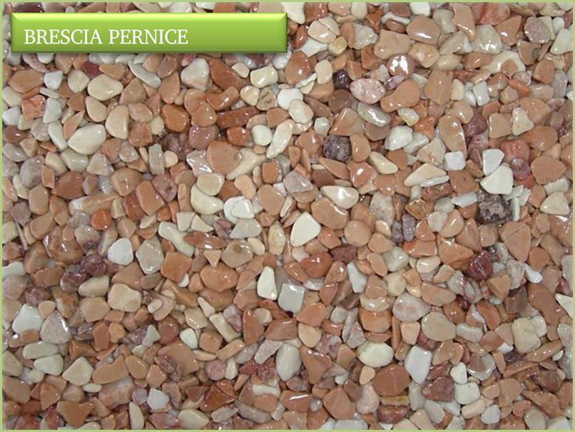 Les granulats de marbre italiens - Couleurs brescia pernice