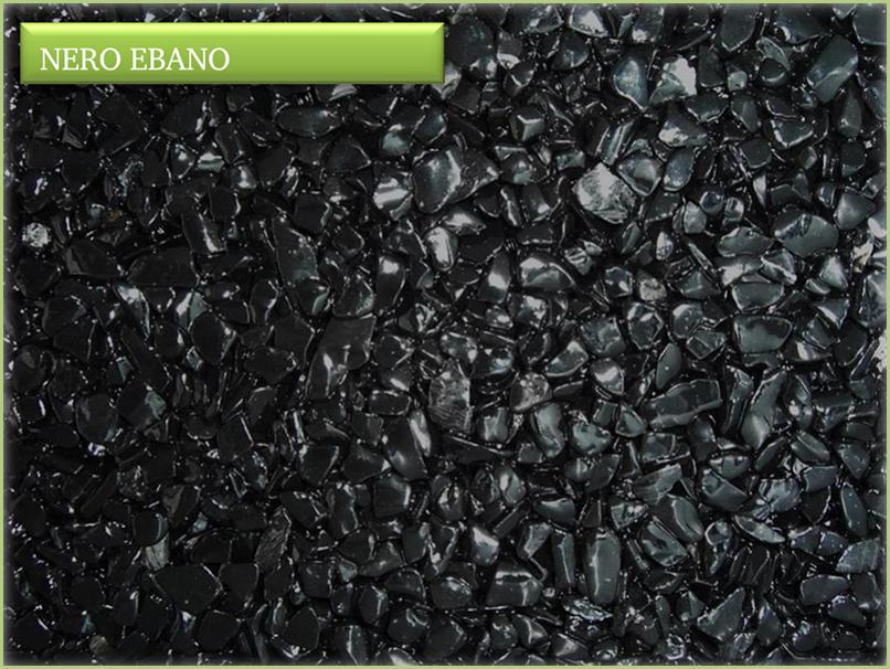 Les granulats de marbre italiens - Couleur nero ebano
