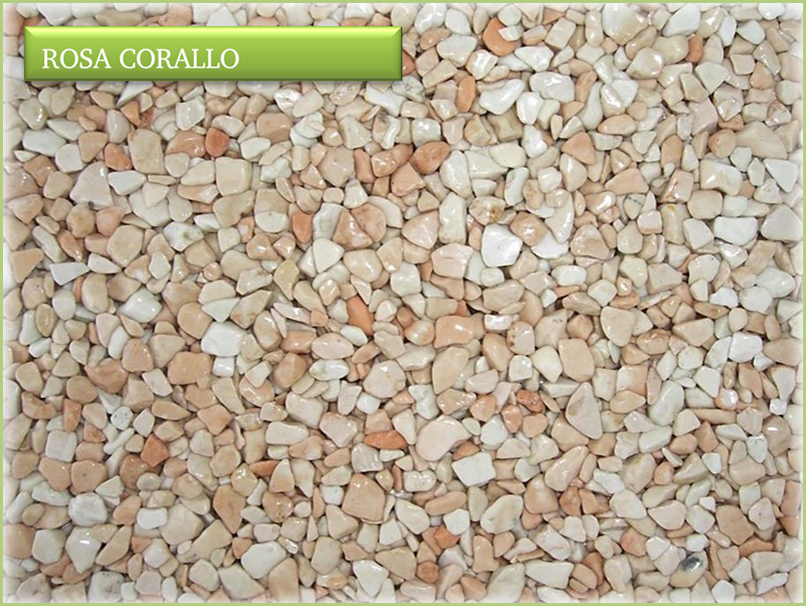Les granulats de marbre italiens - Couleurs rosa corallo