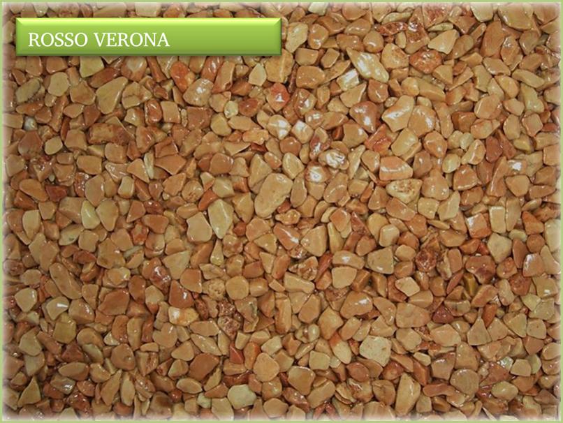 Les granulats de marbre italiens - Couleurs rosso verona