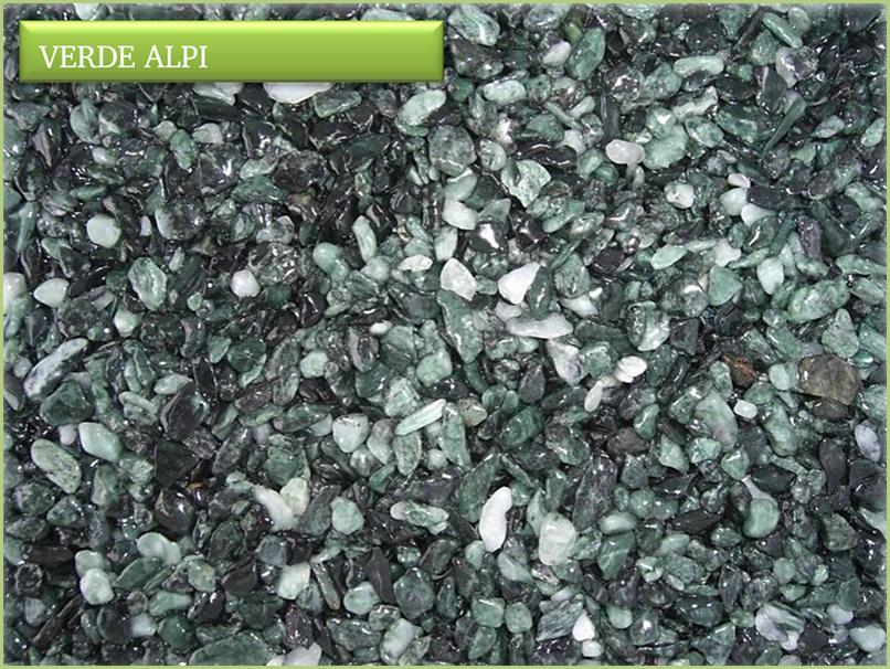 Les granulats de marbre italiens - Couleur verde alpi