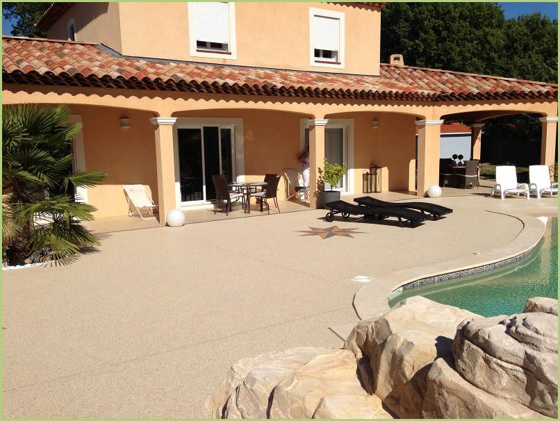 Le projet - Terrasse en agrégats de marbre RESIMARMO