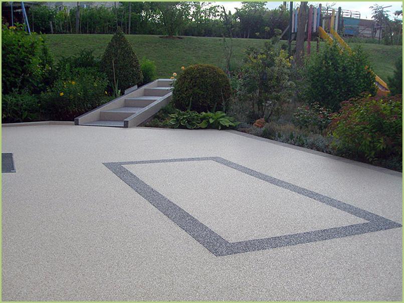 Jardin d'enfants en gravier de marbre resine couleur bardiglio chiaro