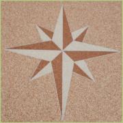 Les motifs en granulat de marbre - Motif Rose des sables