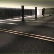 Parking souterrain en granulat de marbre – Après