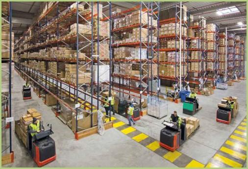 Le transport de granulat - Surface de stockage