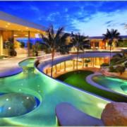 Terrasses illuminees - Piscine Palmiers